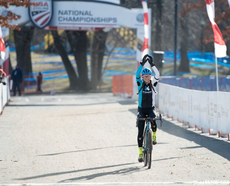 Catherine Moore took another title in Hartford. 2017 Cyclocross National Championships, Masters Women 45-49. © A. Yee / Cyclocross Magazine