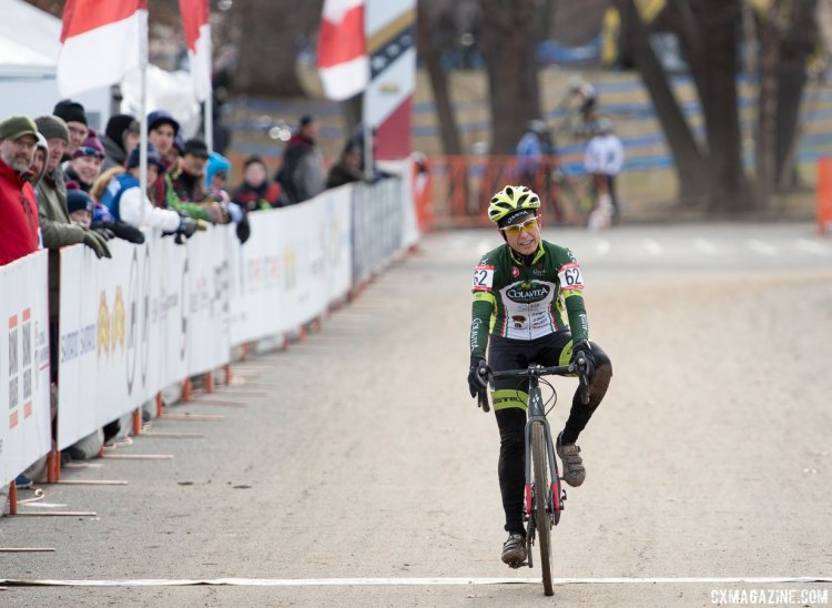 Stacey Barbossa made up for last year's mechanical while in the lead and finished on the podium this year. 2017 Cyclocross National Championships, Masters Women 50-54. © A. Yee / Cyclocross Magazine