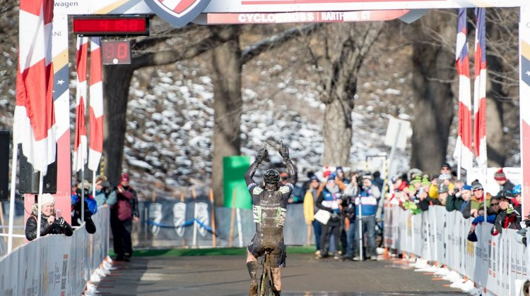 Cozza wins another title, after winning in Austin. 2017 Cyclocross National Championships, Masters Men 50-54. © A. Yee / Cyclocross Magazine