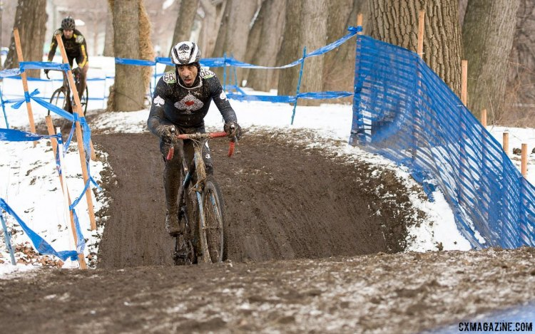 Jonathan Card had a solid ride to finish third after sitting in second for most of the race. 2017 Cyclocross National Championships, Masters Men 50-54. © A. Yee / Cyclocross Magazine