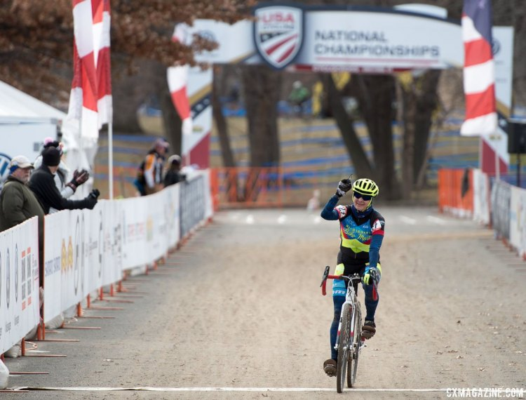 Kimberly Chance took a commanding win. 2017 Cyclocross National Championships, Masters Women 55-59. © A. Yee / Cyclocross Magazine
