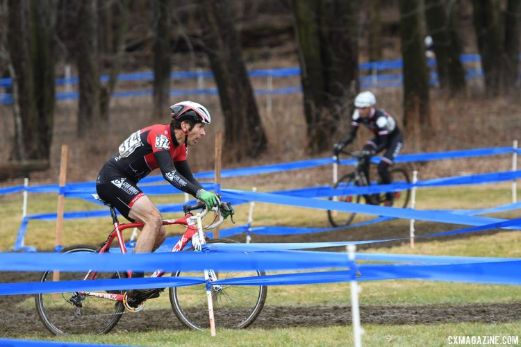Eric Derivera grabbed an early lead. 2017 Cyclocross National Championships, Masters Men 60-64. © A. Yee / Cyclocross Magazine