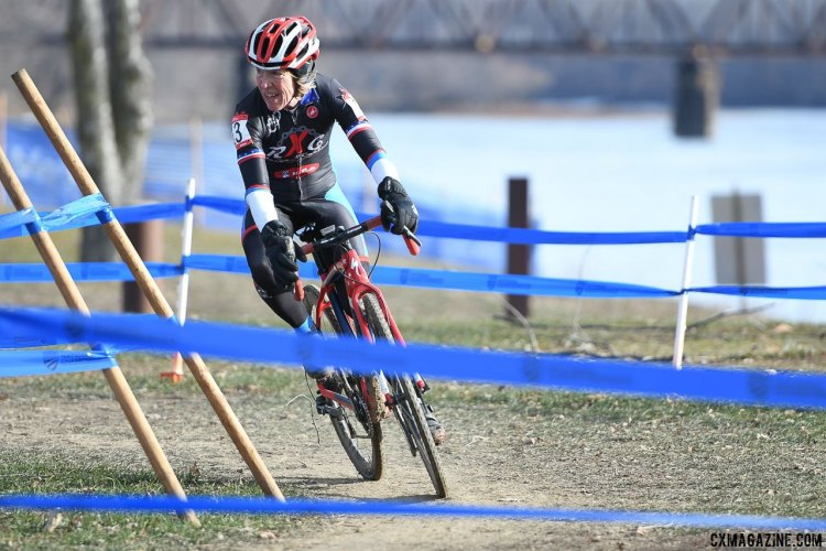 Maurine Sweeney finished third in the Masters 65-69. 2017 Cyclocross National Championships, Masters Women 60+. © A. Yee / Cyclocross Magazine