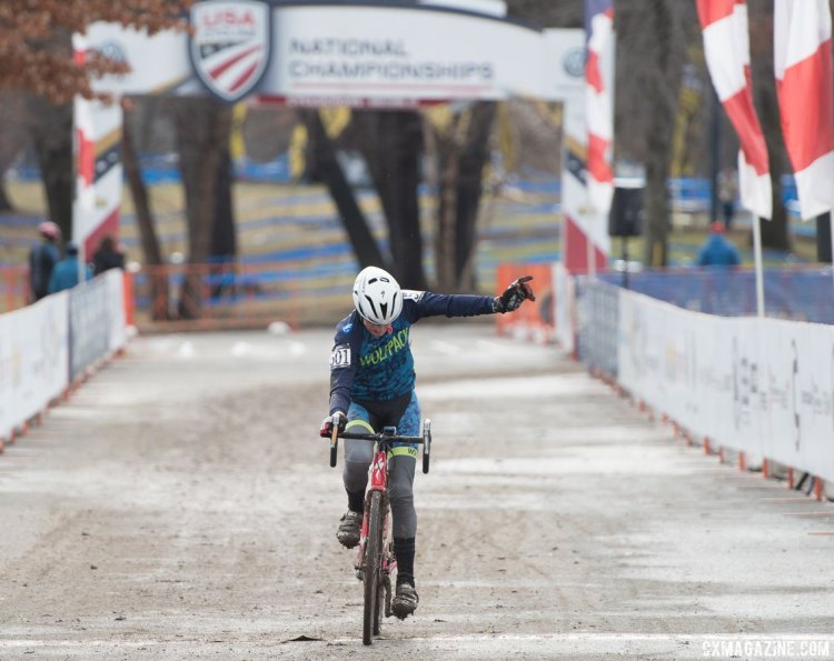 Schmid wins his second title in a row. 2017 Cyclocross National Championships, Masters Men 70+. © A. Yee / Cyclocross Magazine