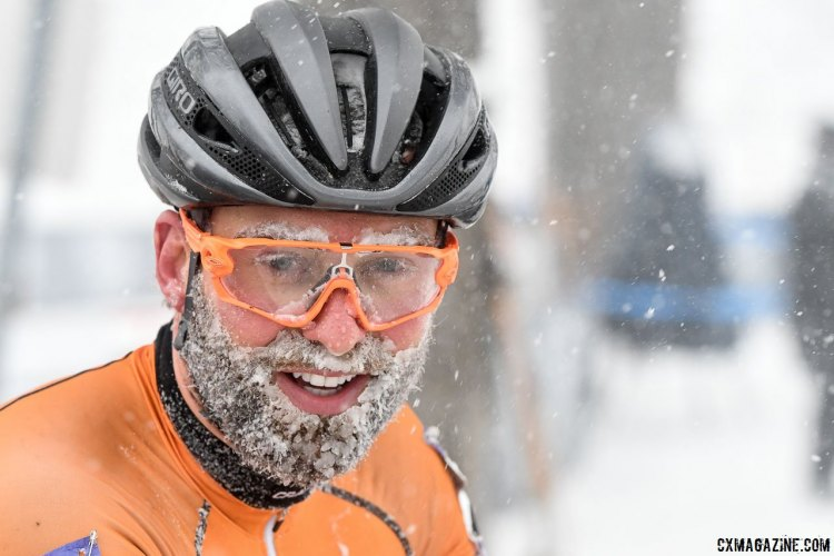Ryan Rinn aged a lot in the winter storm of singlespeed Nationals. 2017 Cyclocross National Championships, Singlespeed Men. © A. Yee / Cyclocross Magazine