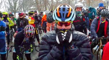 The front row racer and tire check at 2017 Cyclocross Nationals - Elite Women