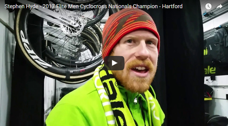 Stephen Hyde interview video - 2017 Cyclocross Nationals