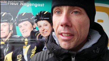New Worlds spectator - Sven Nys, Telenet Fidea Lions manager, at the 2017 Cyclocross World Championships
