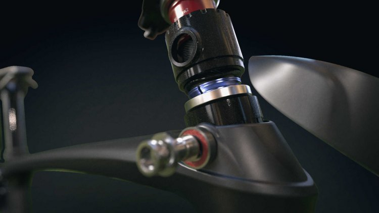 A look inside the front IsoSpeed decoupled head tube assembly up front. photo: Trek
