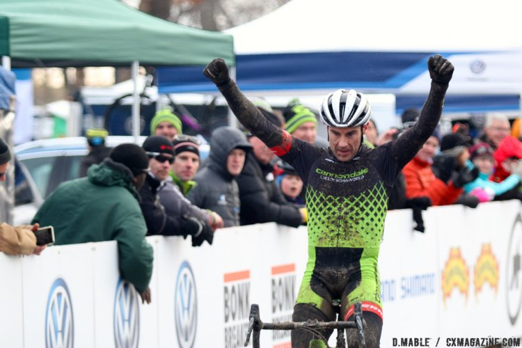 Mathew Timmerman wins the 2017 Cyclocross National Championships Masters Men 40-44 race. © D. Mable / Cyclocross Magazine