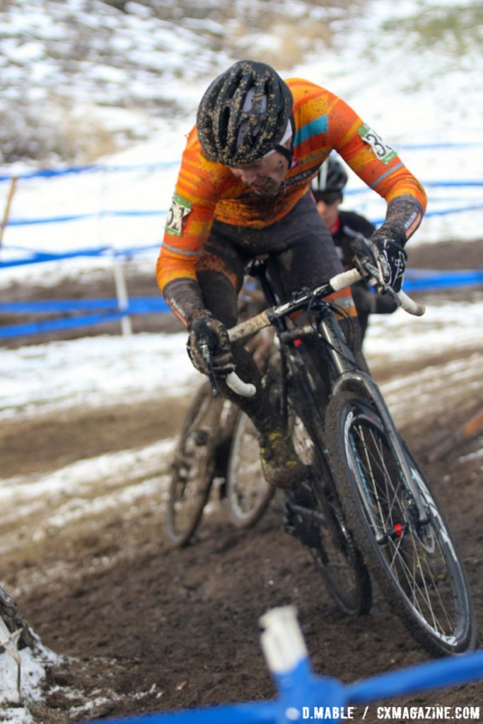 Johannes Huseby (Boulder Cycle Sport/ YogaGlo) would finish the race in third. 2017 Cyclocross National Championships Masters Men 40-44. © D. Mable / Cyclocross Magazine