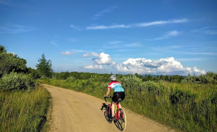 Clouds and dirt. Photo courtesy Peter Henry - Nonesuch Cycle Tours