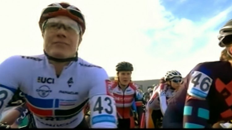 Katie Compton had a front row start at the Superprestige Hoogstraten
