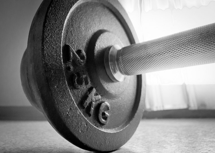 Weight liftig for cyclocross offseason, cyclists. photo: Barbell by Mark_K_ on flickr.