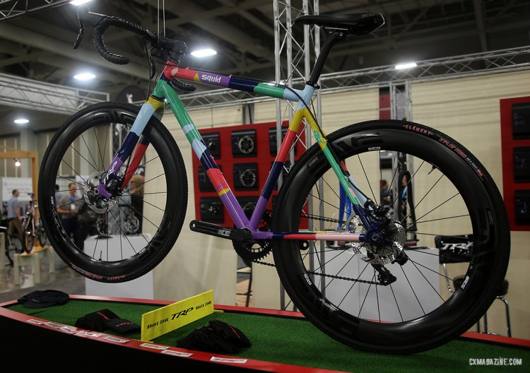 All the colors! Squid was all over NAHBS -- here at the TRP booth. © C. Fegan-Kim Cyclocross Magazine