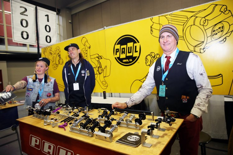 The Paul Components booth, featuring Paul. © C. Fegan-Kim / Cyclocross Magazine