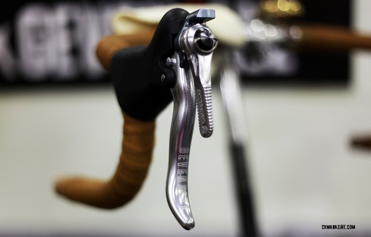 AUDAX is a low maintenance shifter that's sold with Dia-Compe friction shifters, or without shift levers. © C. Fegan-Kim Cyclocross Magazine