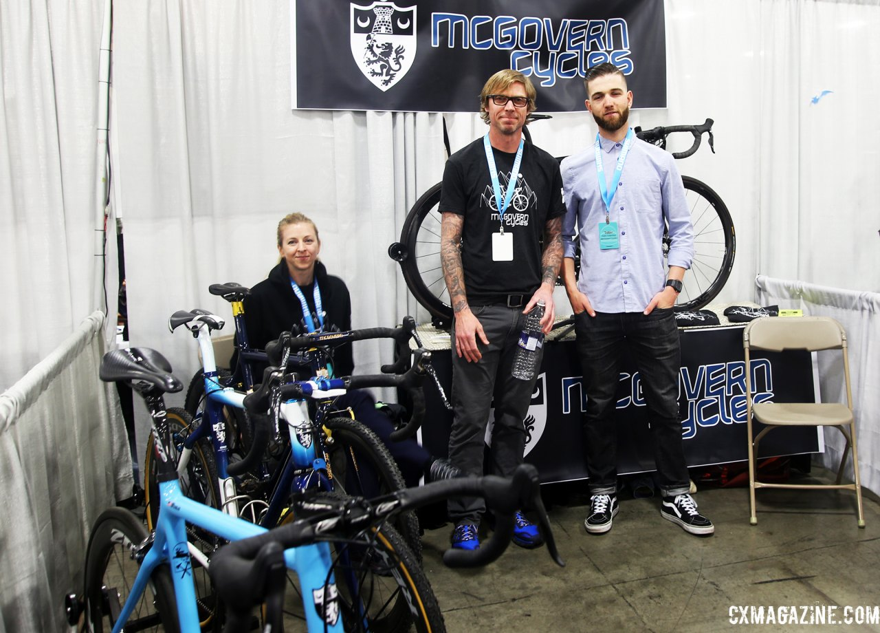 Chris McGovern, center, coaches and builds bikes. © C. Fegan-Kim / Cyclocross Magazine