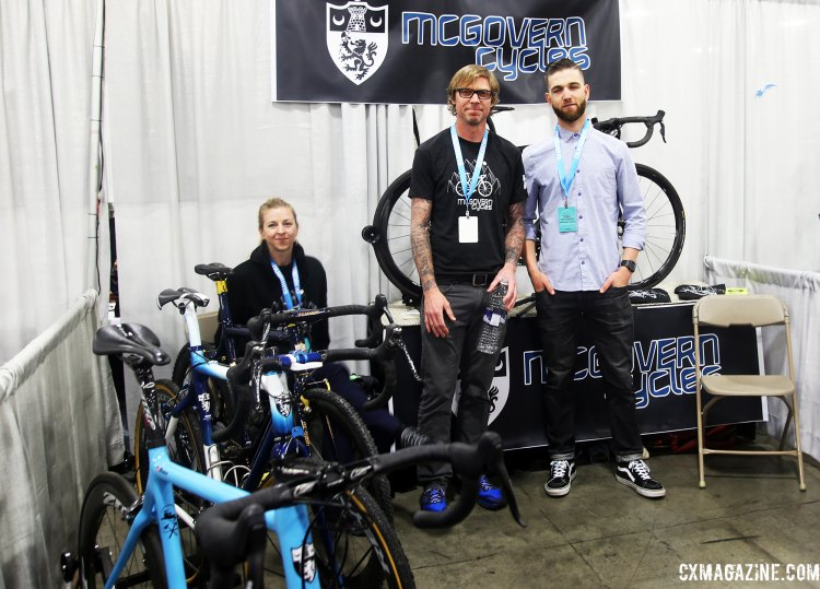 All smiles from Hollie McGovern, Chris McGovern, and Tobin Ortenblad, at McGovern Cycles' second NAHBS. © C. Fegan-Kim Cyclocross Magazine