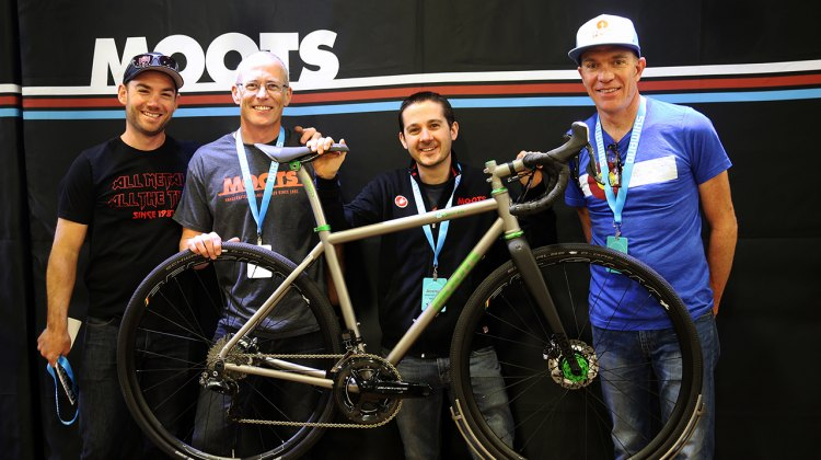 The NAHBS Moots team Nate Bradley, Thad Hoffman, Jeremiah Gantzer, and Jon Cariveau (left to right). © C. Fegan-Kim for Cyclocross Magazine
