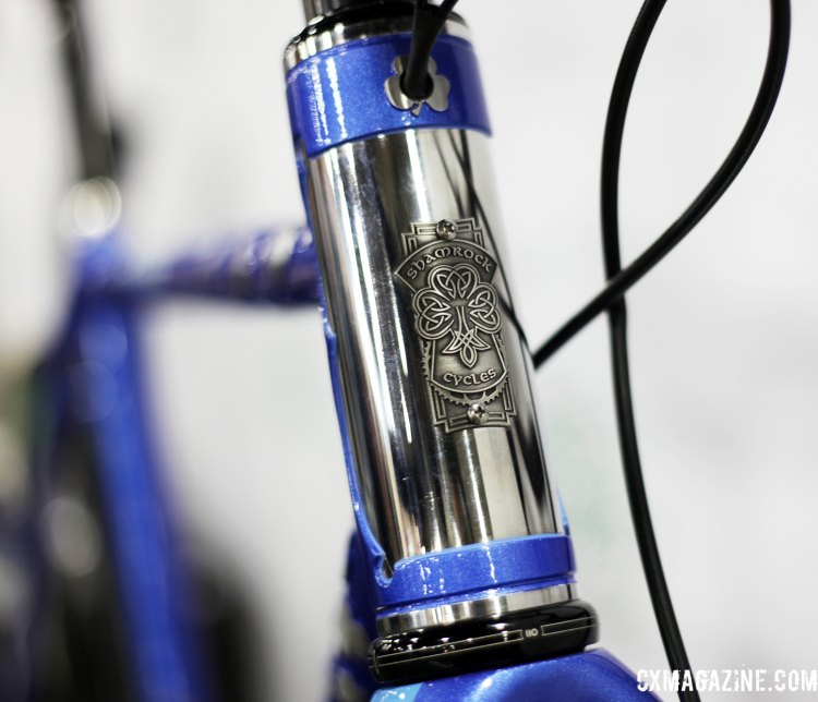Heritage pride. The contrast on the headbadge is striking. © C. Fegan-Kim Cyclocross Magazine