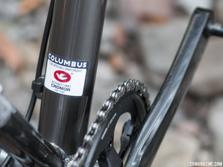 Columbus Cromor steel tubing adds some pedigree to a new category of bikes. Bombtrack Hook EXT cyclocross/gravel/adventure bike. © Cyclocross Magazine