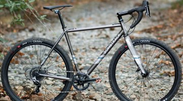 Bombtrack Hook EXT cyclocross/gravel/adventure bike can take on rougher terrain that you might normally reserve for a mountain bike. © Cyclocross Magazine