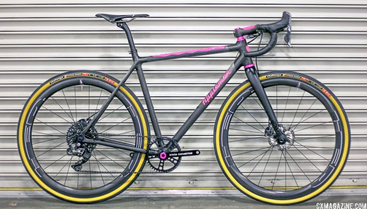 Matt Appleman's Pink Doughnut gravel bike. NAHBS 2017. © C. Fegan-Kim Cyclocross Magazine