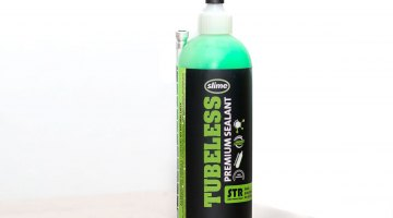 Slime's new STR tubeless sealant is hard to miss on store shelves, and should make finding your leak pretty easy. Slime Tubeless Ready. © Cyclocross Magazine