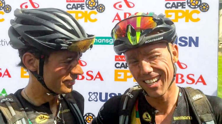 Sven Nys and Sven Vanthourenhout complete the 2017 Cape Epic.