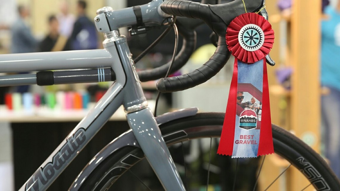 The judges' favorite gravel bike at NAHBS 2017: The Mosaic GT-1 titanium gravel bike. . © C. Fegan-Kim Cyclocross Magazine