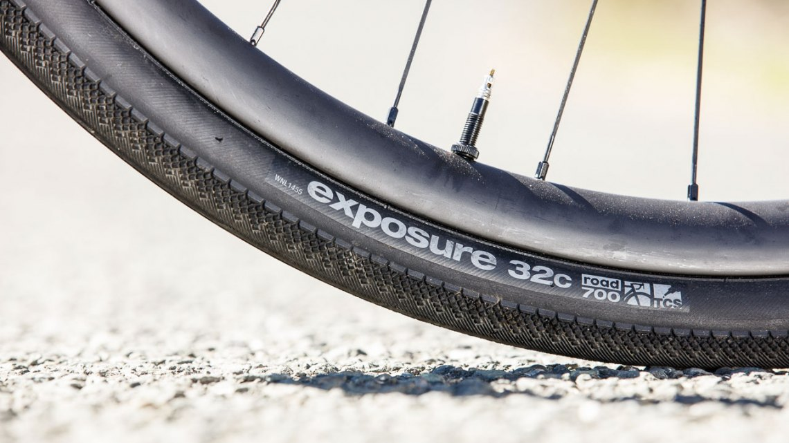 WTB's 32c Exposure TCS road/gravel tire is WTB's narrowest tubeless knobby. © Cyclocross Magazine