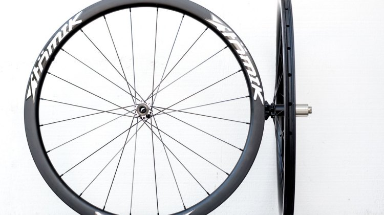 Atomik 38C Disc wheels are durable, easy to setup and have a retail price of $1549. © Cyclocross Magazine