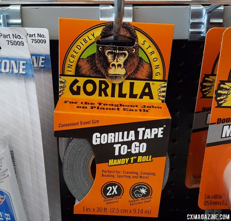 Doing a DIY tubeless conversion, or out of tubeless tape? Gorilla Tape is an old fall-back option, available at any auto parts store. © Cyclocross Magazine