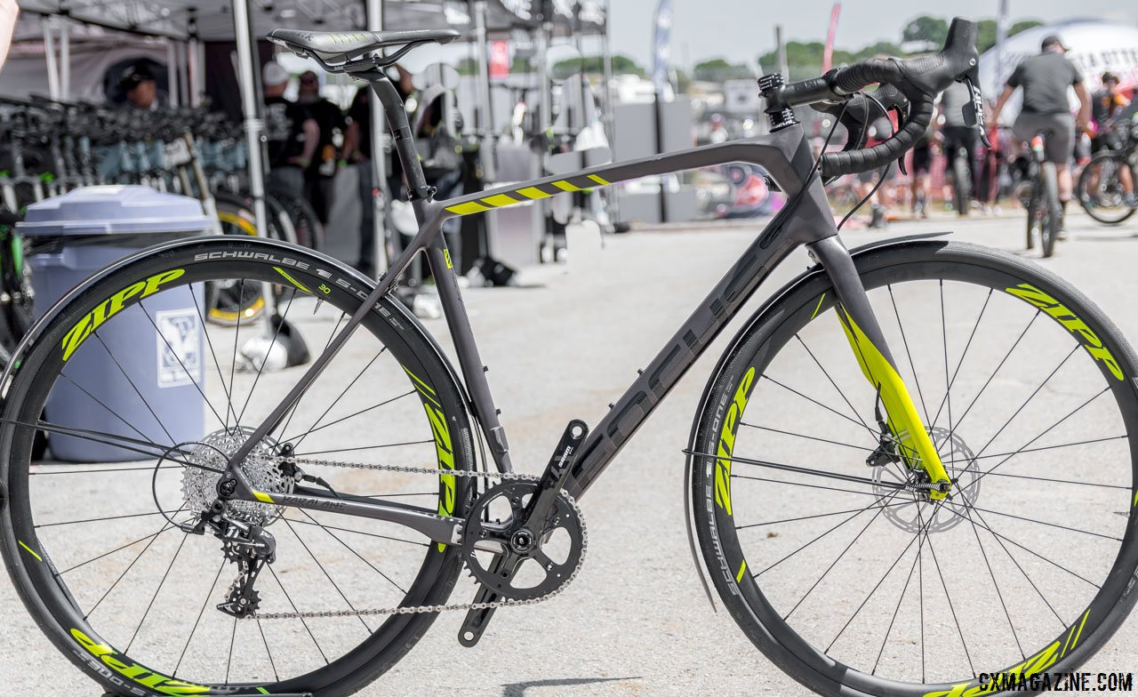 1bbb31a8265 The SRAM Apex-equipped Focus Paralane Factory country road bike comes in  just two sizes