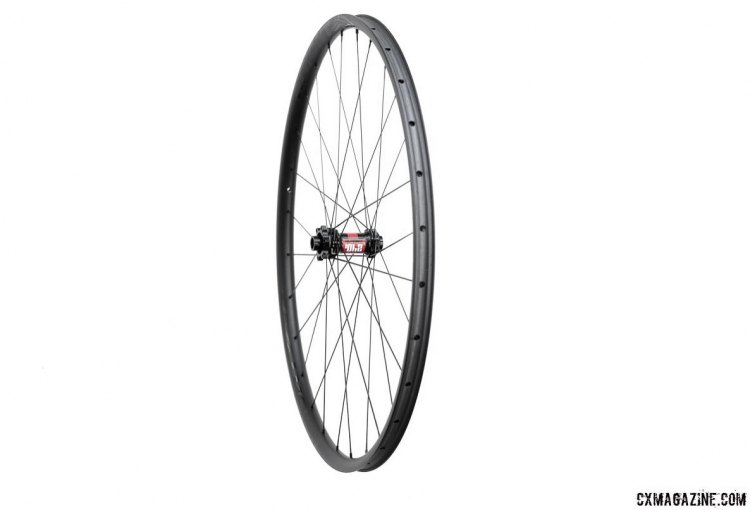 Knight Composites 29 Race / Gravel carbon tubeless disc wheelset features a low-profile rim and high-profile features. © Cyclocross Magazine