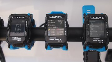 Lezyne has recently expanded their GPS offerings to include watches. The Enhanced Micro C GPS and the Enhanced Micro GPS (the C designation is for the color screen). Sea Otter Classic 2017 © Cyclocross Magazine