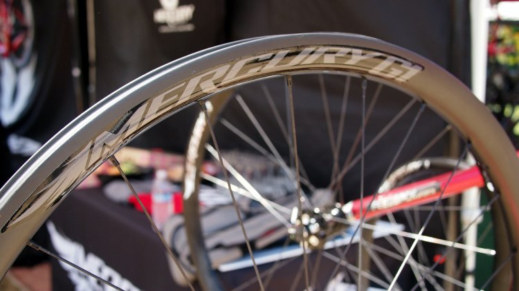 Mercury Cycling G1 gravel wheels are available now through Competitive Cyclist with a suggest retail price of $1,700. 2017 Sea Otter Classic. © G. Kato / Cyclocross Magazine
