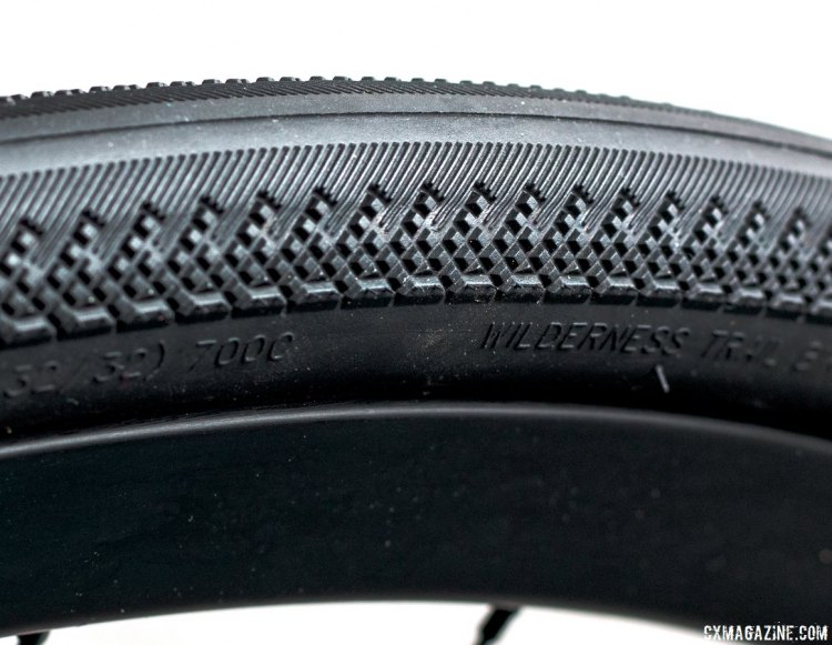 Minimal side knobs keep the weight down and the pavement cornering predictable. The new WTB Exposure 32c tubeless tire. Tires for your own Hell of the North ride. © Cyclocross Magazine