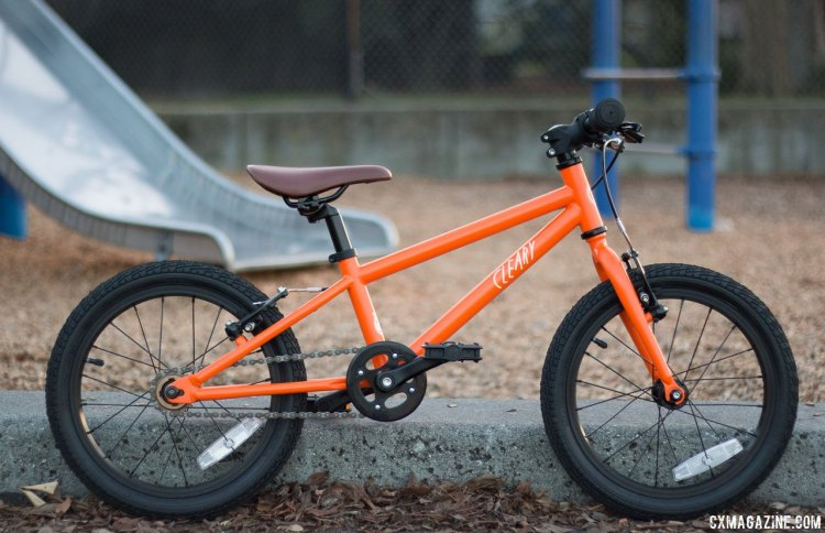 """It's equally at home on the playground and race course. Cleary Bikes 16"""" wheel Hedgehog kid's bike that we've reviewed. © Cyclocross Magazine"""
