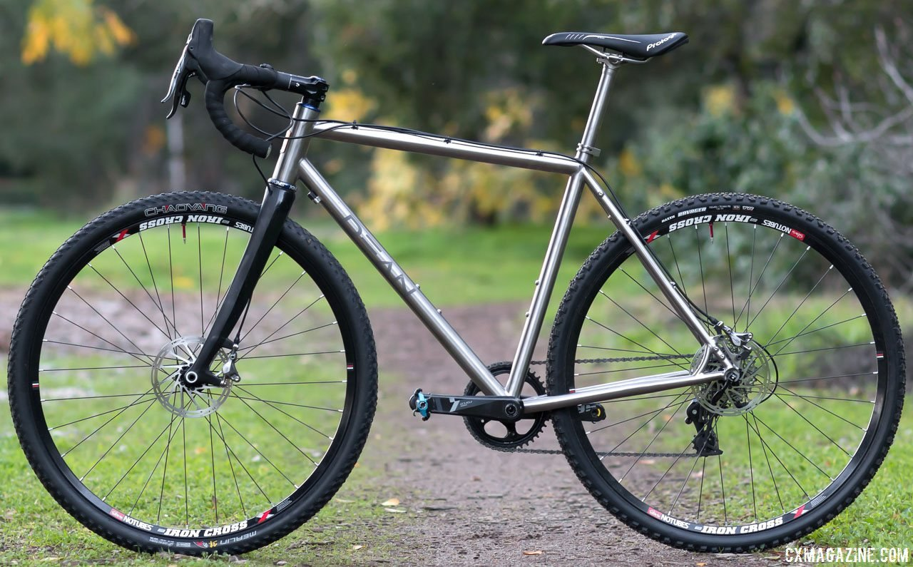 Dean Antero titanium cyclocross bike is ready for cyclocross, gravel, commuting or touring. © Cyclocross Magazine