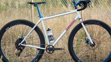 Monster Cross, Drop Bar Mountain Bike, Adventure Bike or just a bike? Regardless of labels, the Falconer steel drop bar bike is built to do it all well. Paul Camp 2017. © Cyclocross Magazine