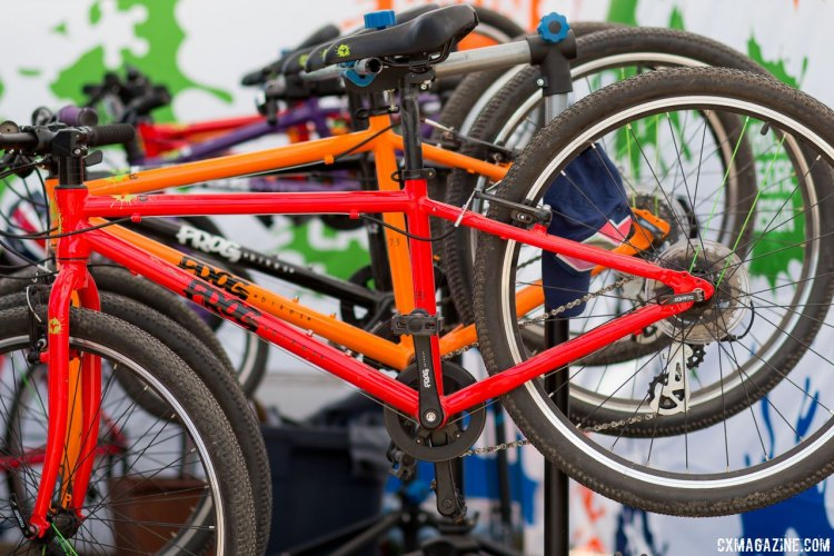 Frog Bikes' selection is impressive, and tends to be a bit more affordable and heavier than its main competitor, Islabikes. Kids' bikes companies multiply at the 2017 Sea Otter Classic. © Cyclocross Magazine
