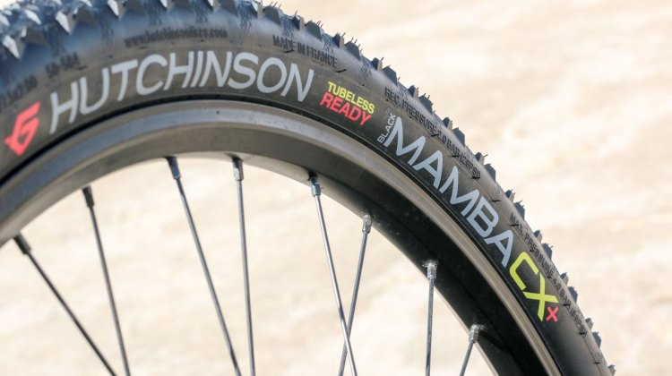 Same tire, new category? The Black Mamba 29x2 tire now comes under a Black Mamba CX+ label, but it's the same 52mm lightweight 495g tire for monster cross or mountain bike use 2017 Sea Otter Classic. © Cyclocross Magazine