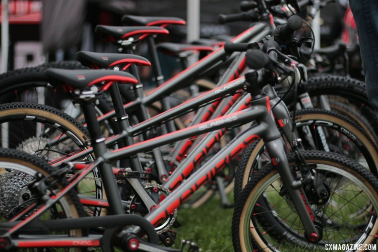 Islabikes expands its offerings to a high-end lightweight Pro Series of cyclocross and mountain bikes. Kids' bikes companies multiply at the 2017 Sea Otter Classic. © Cyclocross Magazine