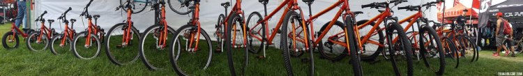 Islabikes expands its offerings, still remains at the top in terms of components, features, weight and price. Kids' bikes companies multiply at the 2017 Sea Otter Classic. © Cyclocross Magazine