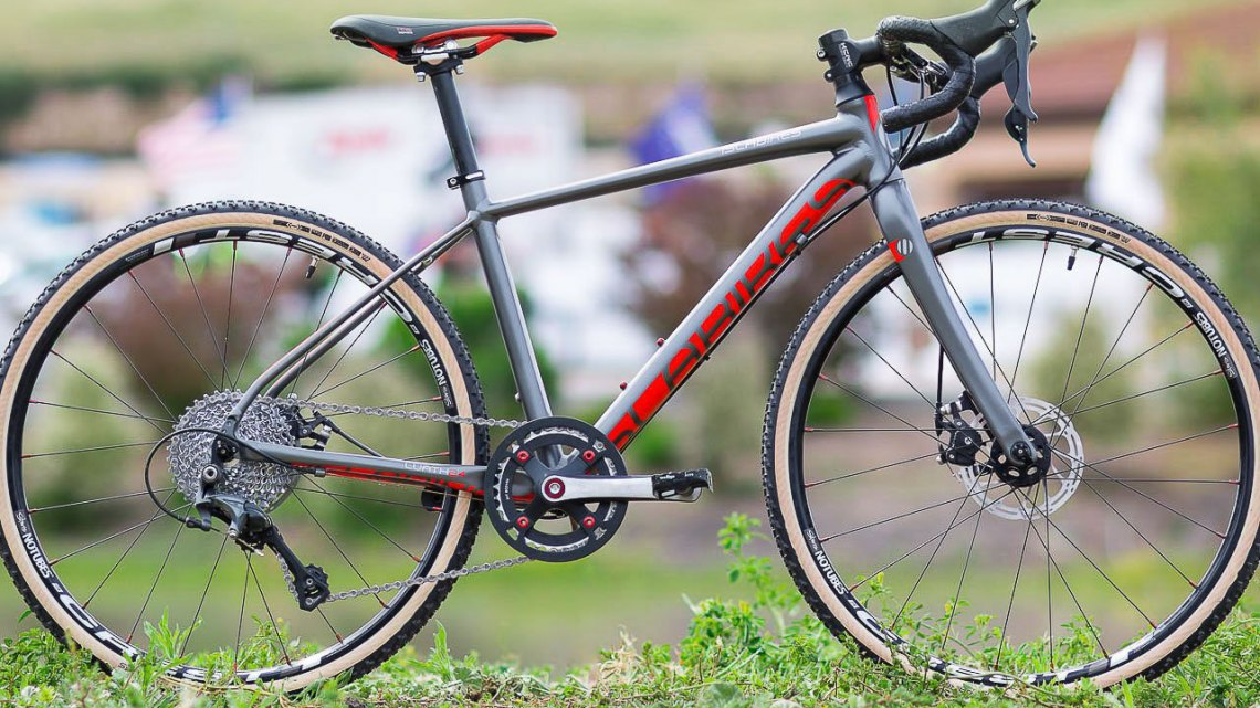 Islabikes knows not many can afford or justify $2399 for a kid's bike, but there's a market and this bike offers size-specific components from bars, crank, tires, saddle and pedals to make a lightweight ride that fits. 2017 Sea Otter Classic. © Cyclocross Magazine