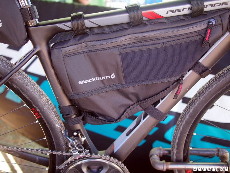The Blackburn packs offer lots of storage space and expandability. 2017 Sea Otter Classic. © G. Kato / Cyclocross Magazine