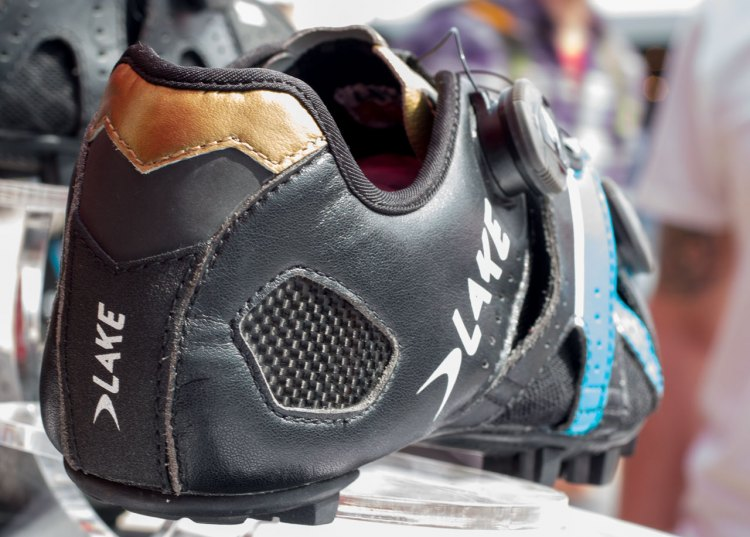 Lake Cycling's new MX241 Endurance mountain bike / cyclocross shoe sits above the MX237 Super Cross and below the MX332 but beats both in fit adjustment options including a heat moldable heel cup. Five minutes at 200 degrees is all you need. © Cyclocross Magazine