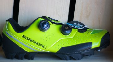 The Garneau Copper T-Flex shoe offers a good fit for narrow and low-volume feet, according to sponsored cyclocross racer Craig Richey. 2017 Sea Otter Classic. © Cyclocross Magazine